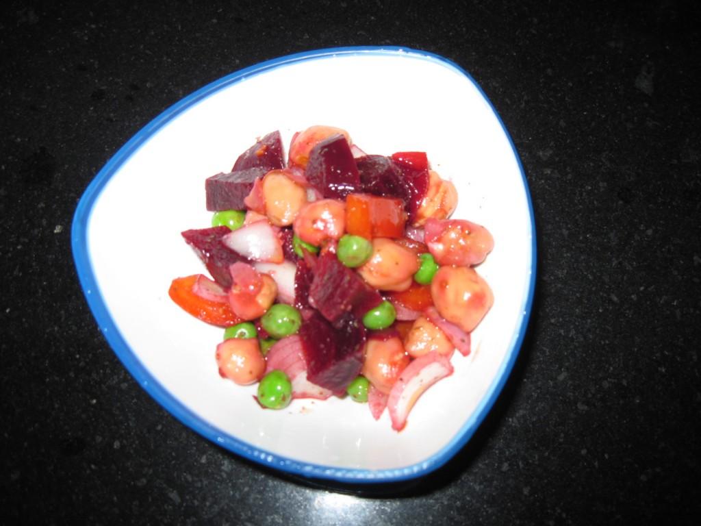 chickpea beet salad