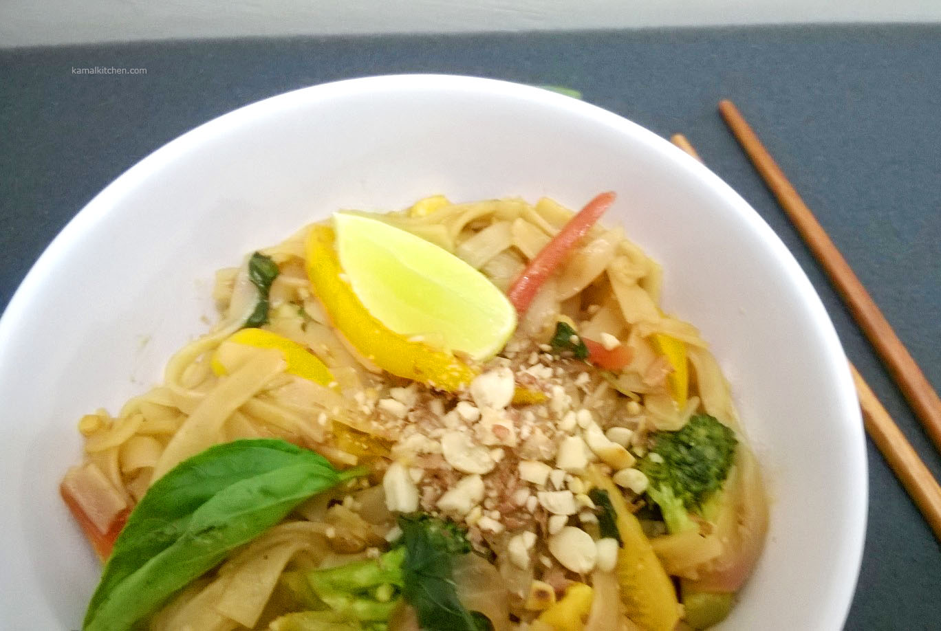 Pad Thai Recipe: Tangy spicy Vegeterian Thai Fix