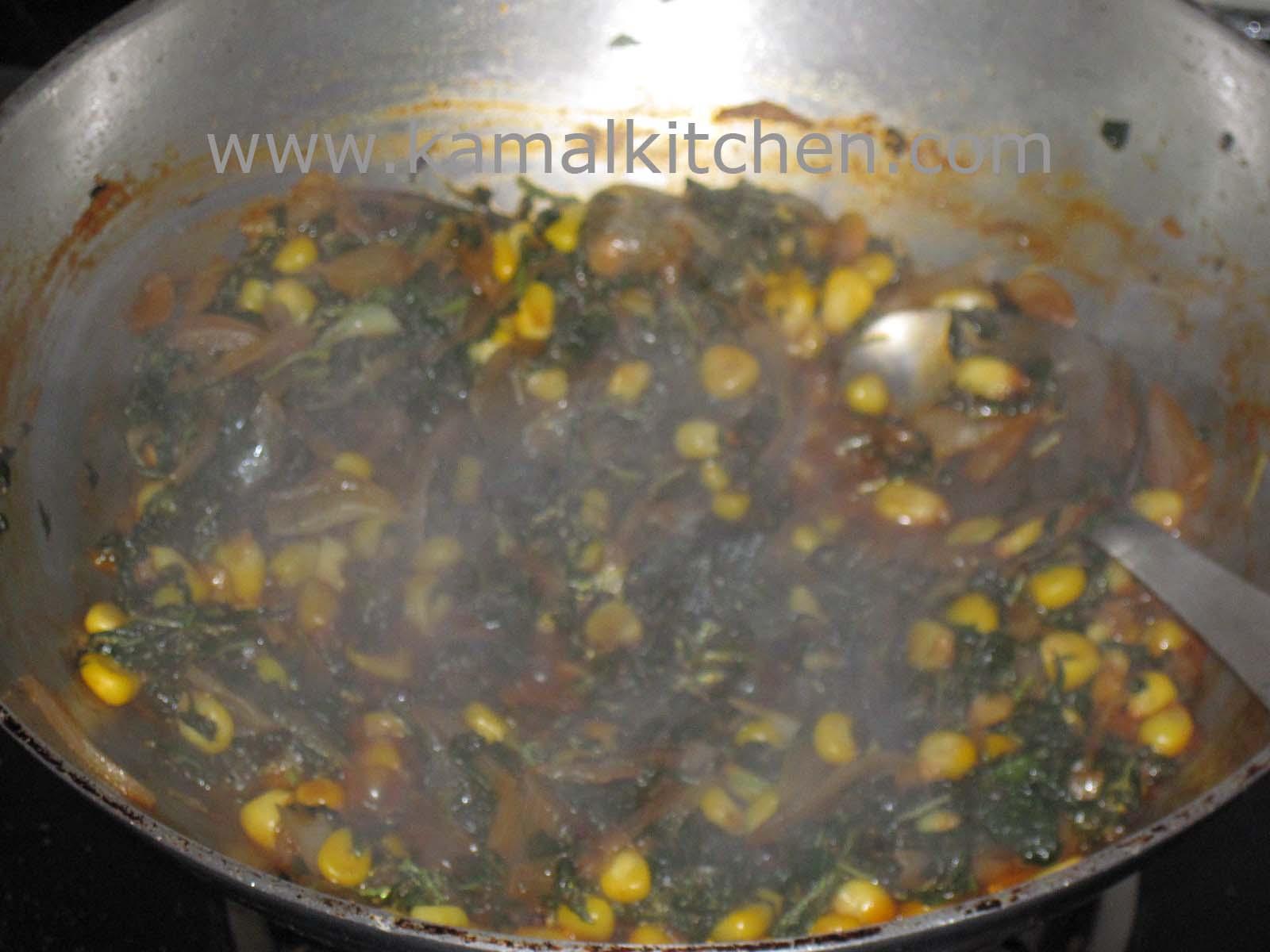Corn Chaulai Bhaji