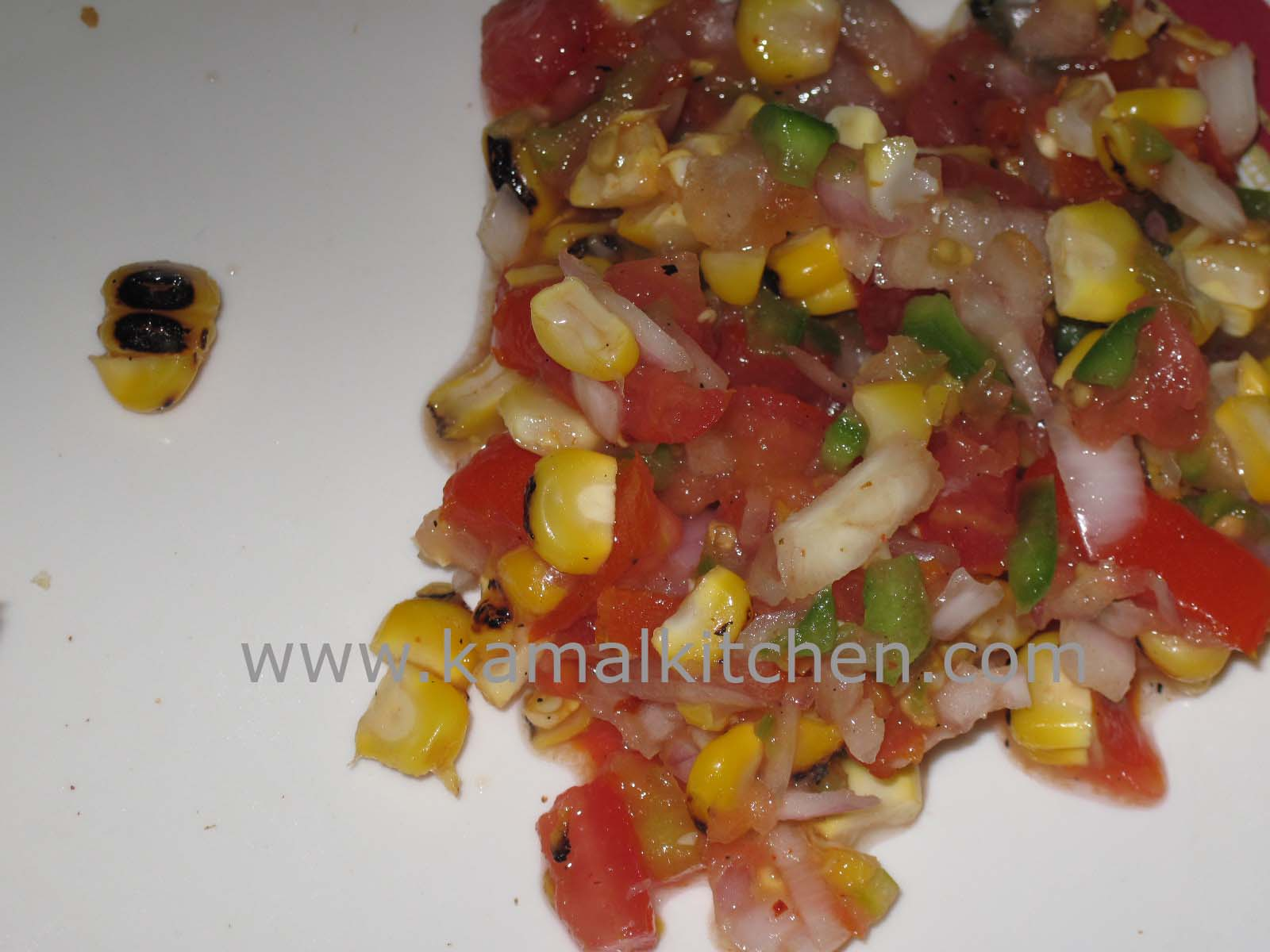 Roasted Corn Salsa – Fresh and tangy