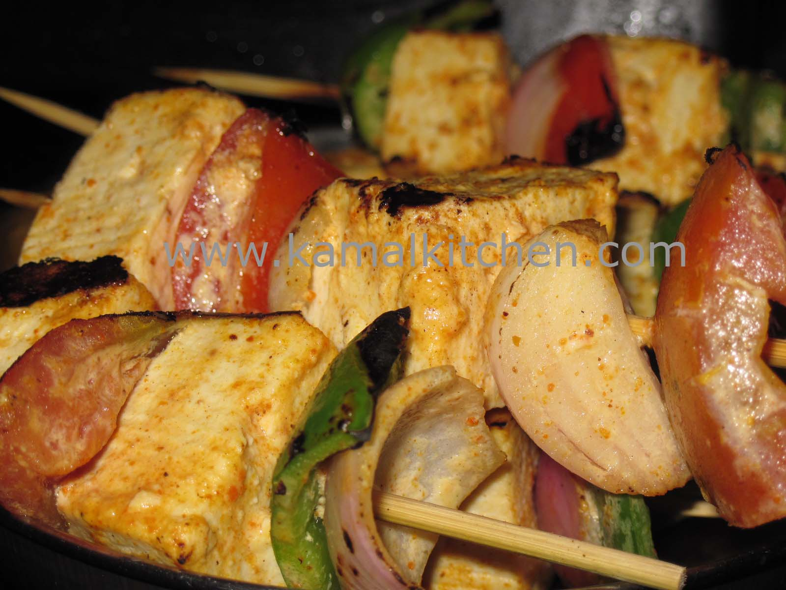 Tofu Kebabs or Tofu Paneer Tikka – Pan grilled perfection