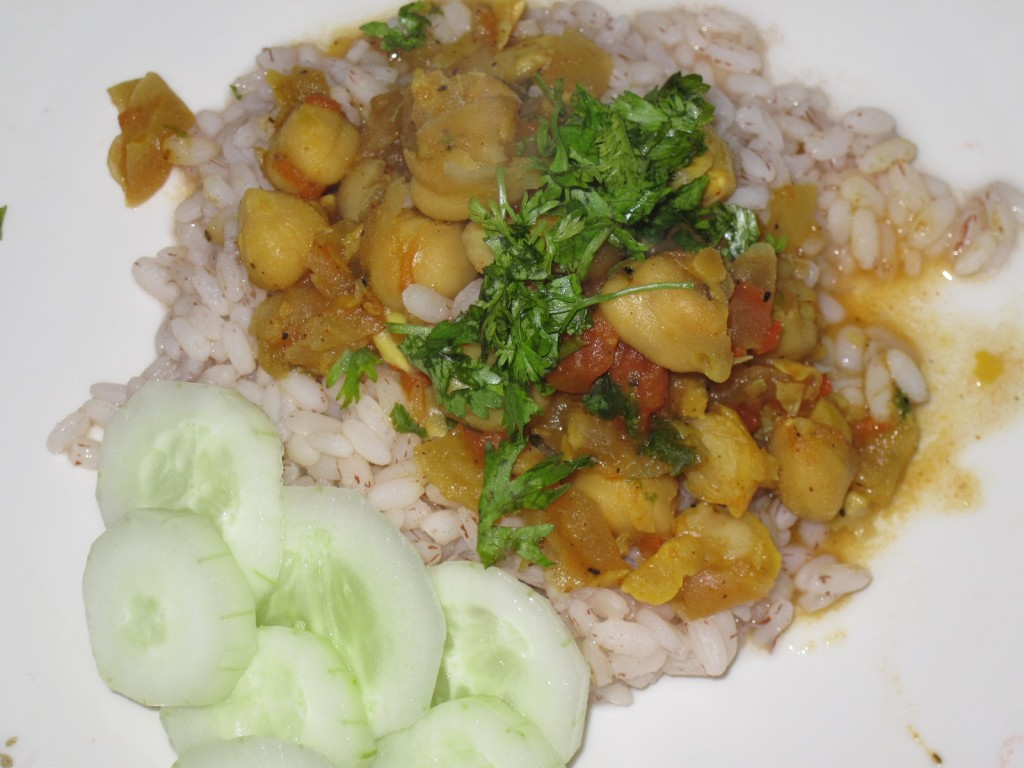 Zero Oil Chana Masala