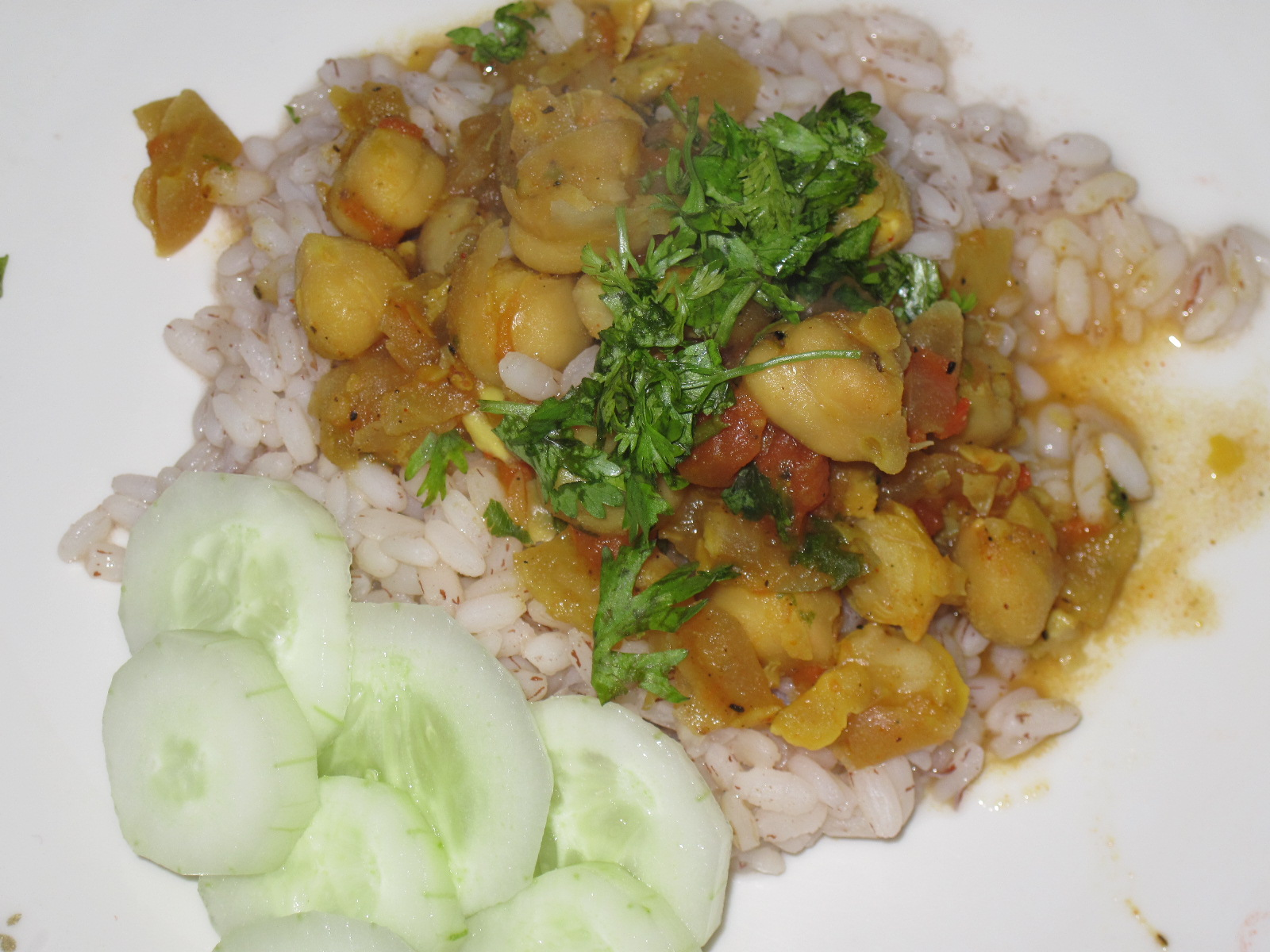 Chana Masala with zero oil – High on Flavor