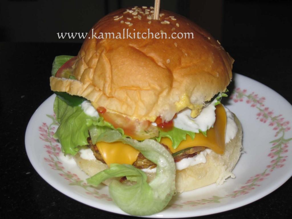 Mushroom Tofu burger