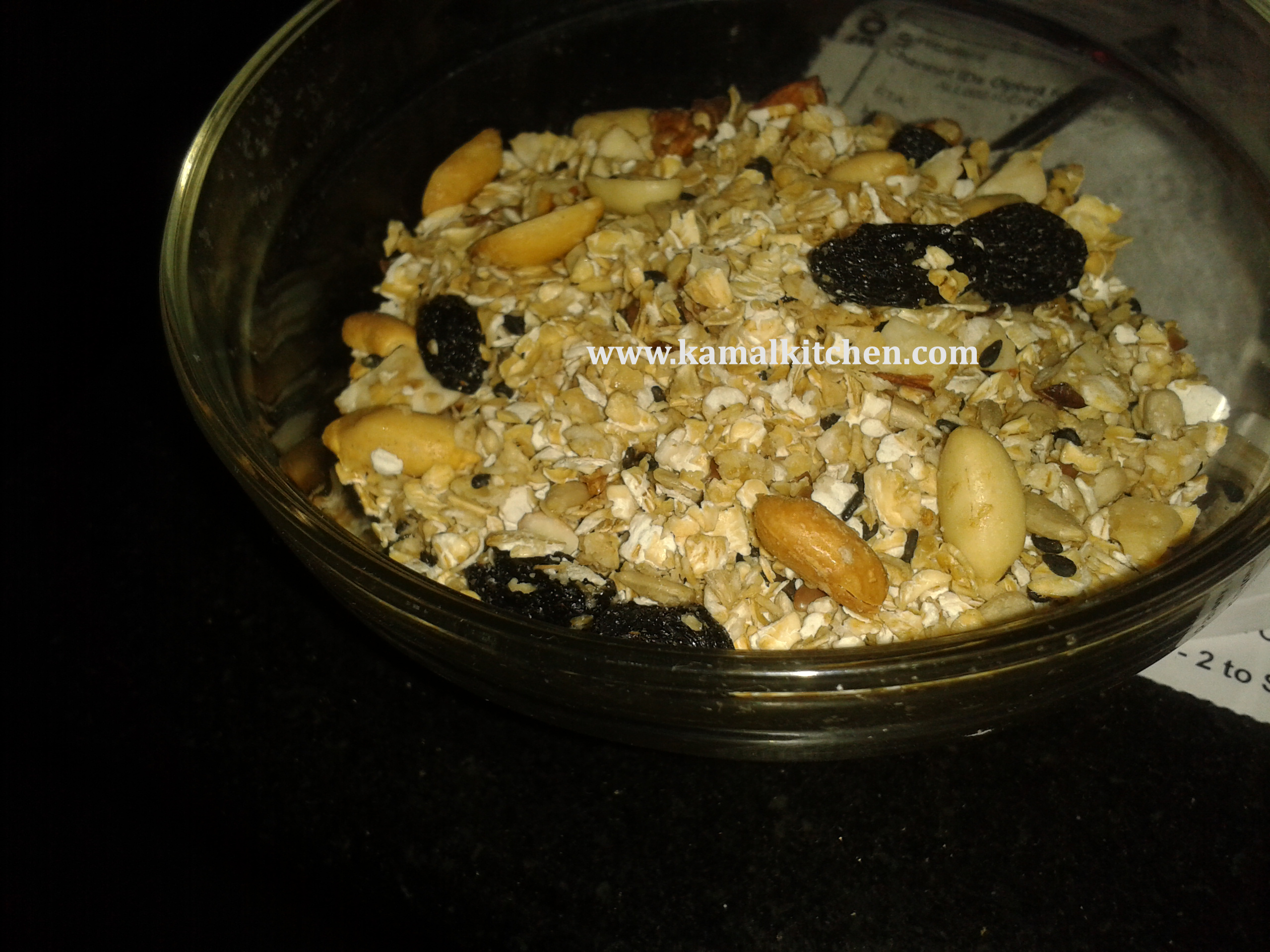 Homemade Honey Nut Granola or Muesli Recipe