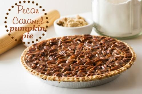 Pecan-Caramel-Pumpkin-Pie