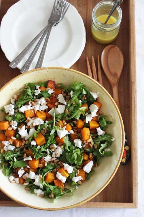 Roast Pumpkin & Rocket Salad
