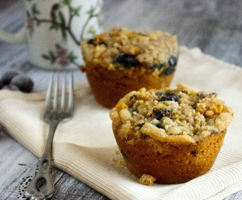 pumpkin blueberry muffin