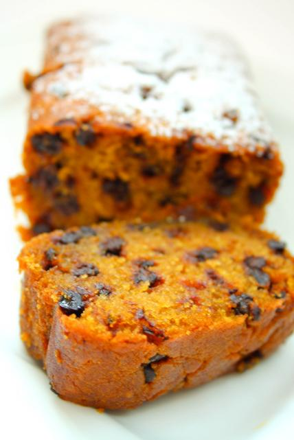 pumpkin choc chip bread