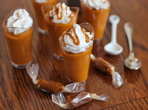 pumpkin mousse pudding