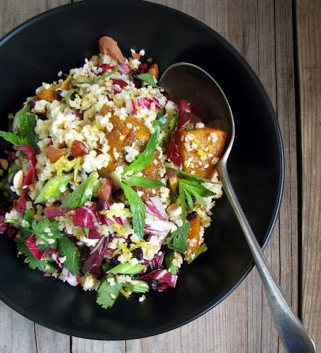 pumpkin radicchio salad