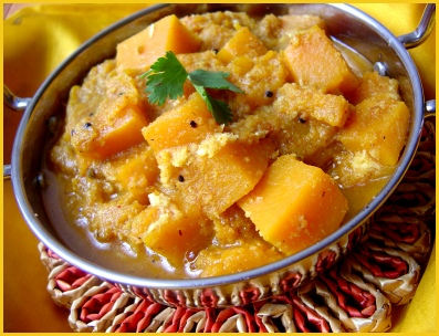 red pumpkin curry marathi