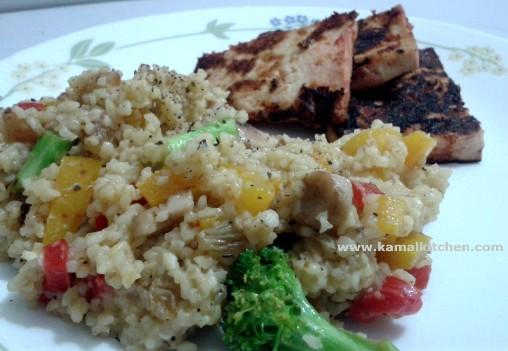 Bulgur Vegetable Summer Salad Recipe