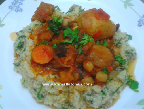 Vegetarian Tagine with Chickpea and Eggplant Recipe (Meatless Monday)