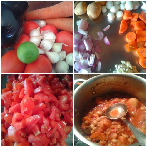 Vegetarian Tagine collage