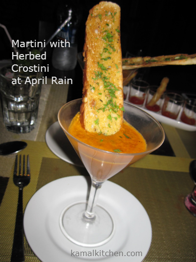 Martini Herbed Crostini April Rain Pune