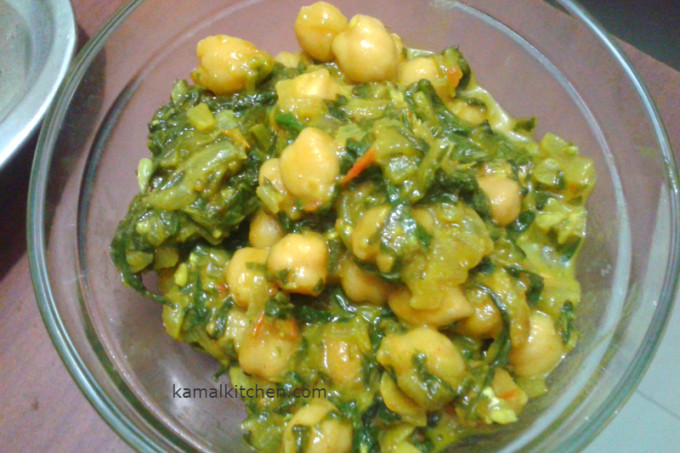 Saag Chole – down home comfort that packs a punch