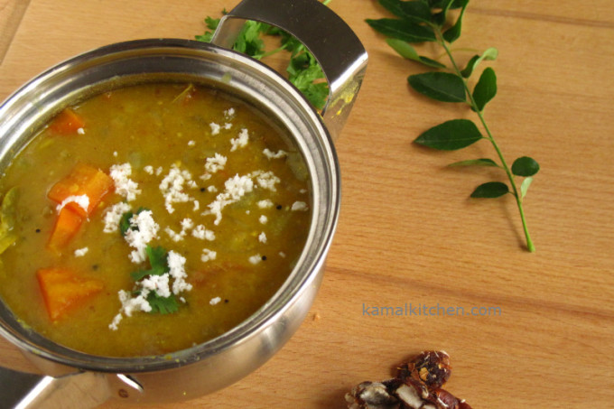 Sambar – South Indian Lentil Stew with Vegetables