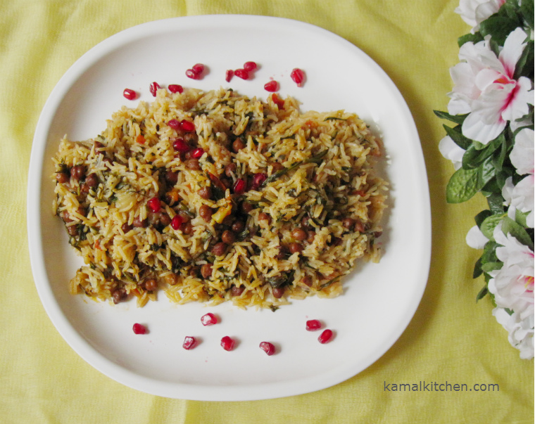 parsley and chana rice recipe