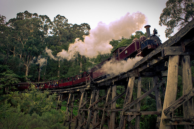 Puffing Billy Steam train Melbourne