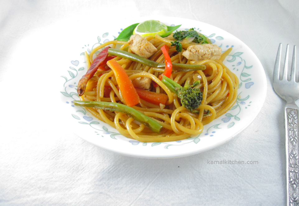 Drunken Noodles - Vegan Pad Kee Mao Recipe