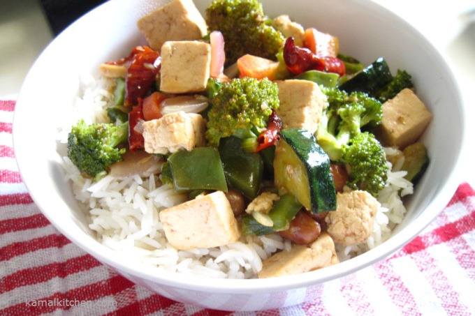 Kung Pao Tofu – Vegan Chinese Dinner