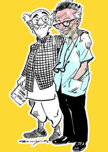 """""""Laxman with common man"""" by RKL-Info - Personal Collection via Wikimedia Commons"""