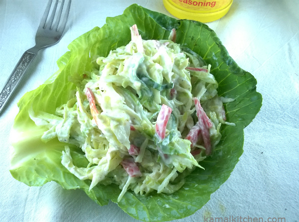 Eggless Coleslaw – Homemade Real Food Recipe