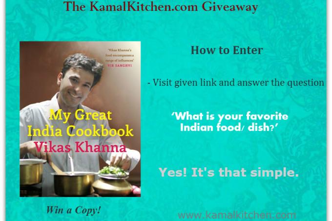 Giveaway: Win Vikas Khanna's My Great India Cookbook