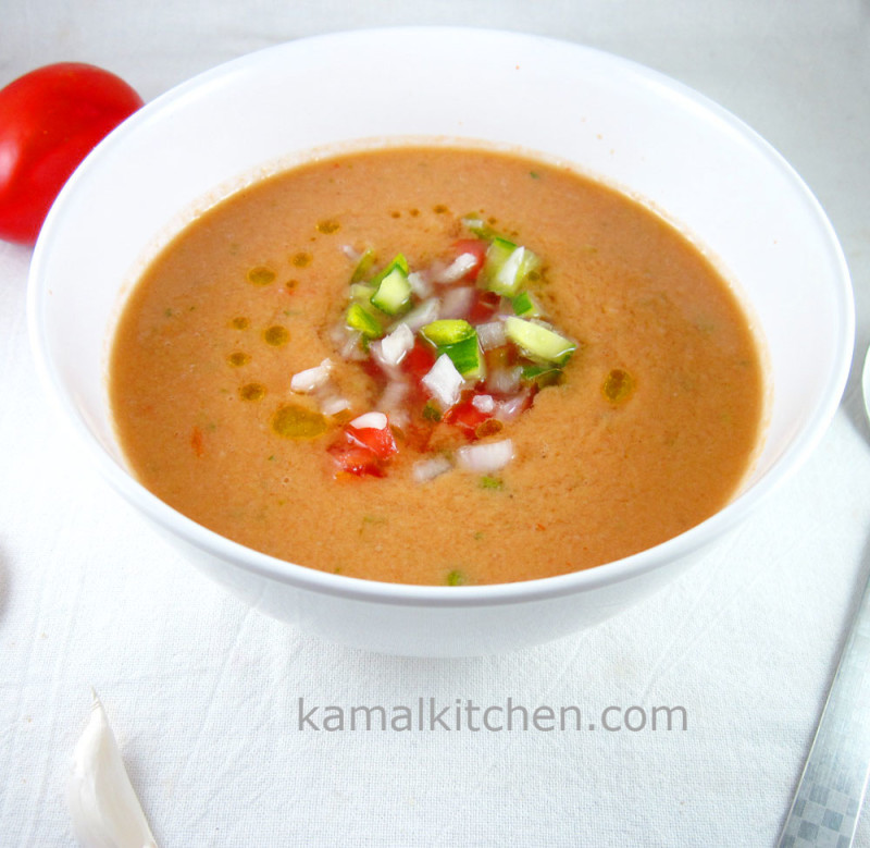 Gazpacho cold Spanish soup