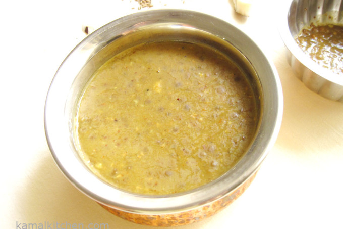 Black Masoor Daal with Coconut – Smoky Masoor Daal Recipe