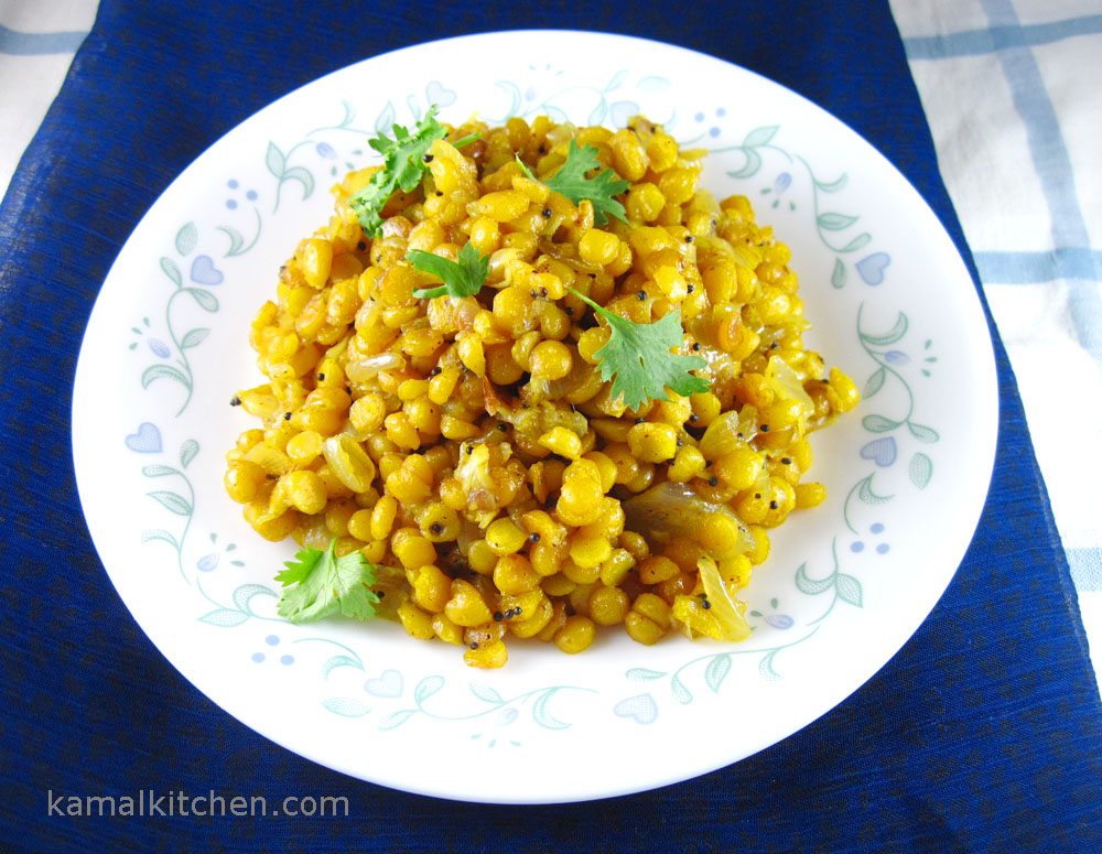 Dry Chana Daal with Onions – Vegan Indian Recipe
