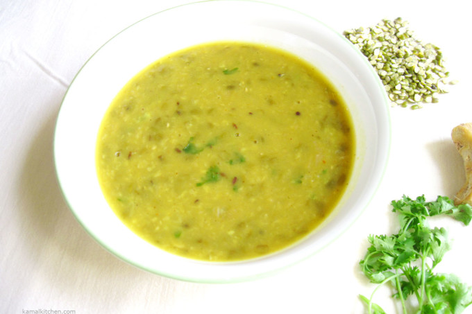 Green Moong Daal – Gingery Perfection