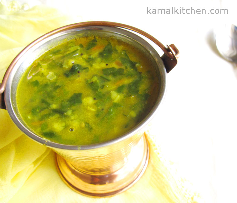 Palak Daal Recipe – Spinach and Lentil Stew - KamalKitchen