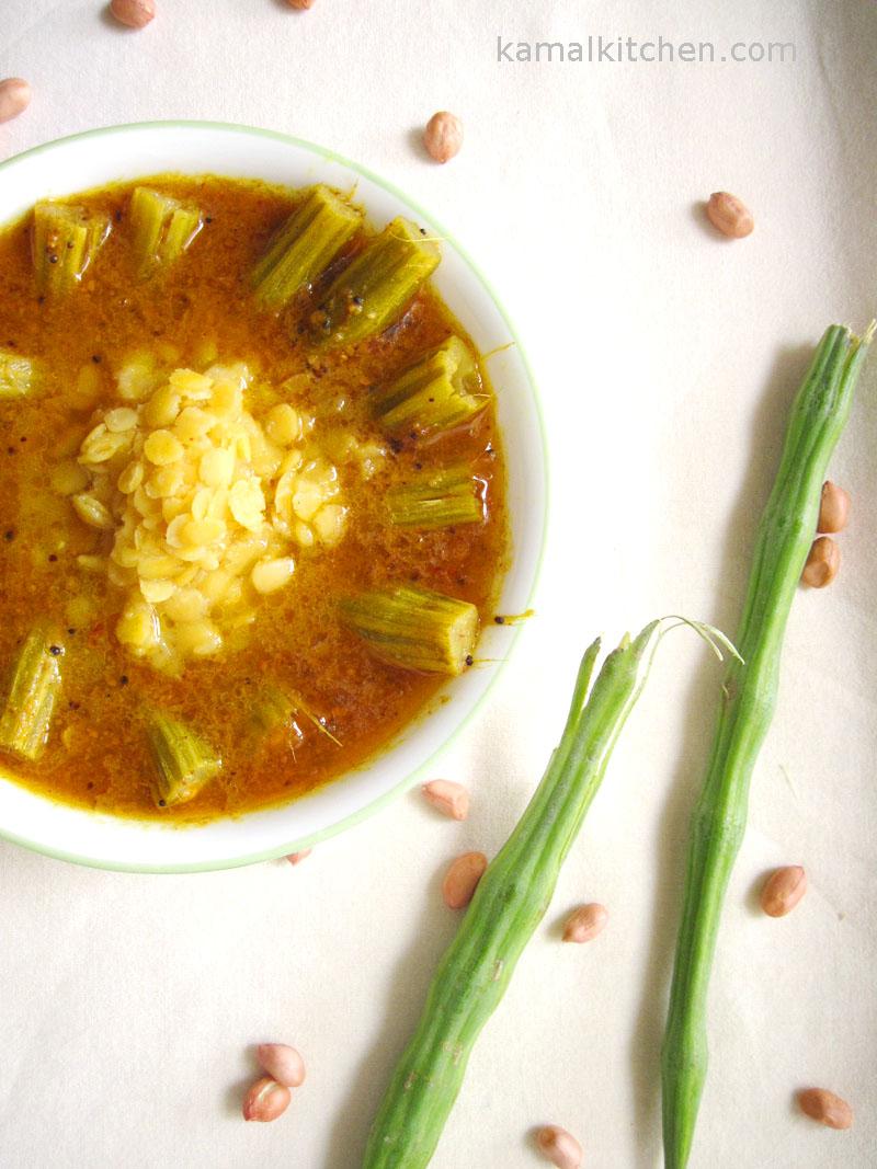 drumsticks daal - shevgyacha kaalvan or shevgyachya shenganchi aamti