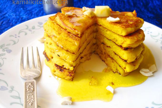 Eggless Mango Cashew Pancakes – YUM!