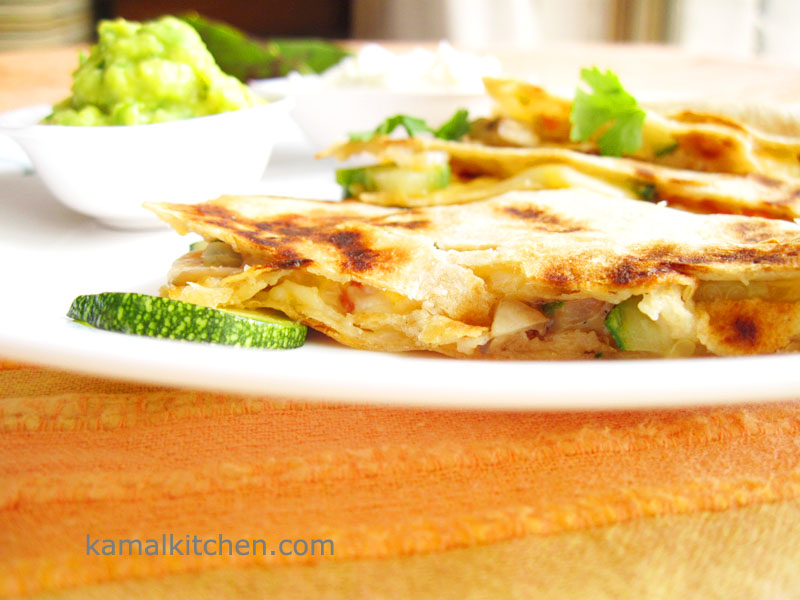 Zucchini and Mushroom Quesadillas