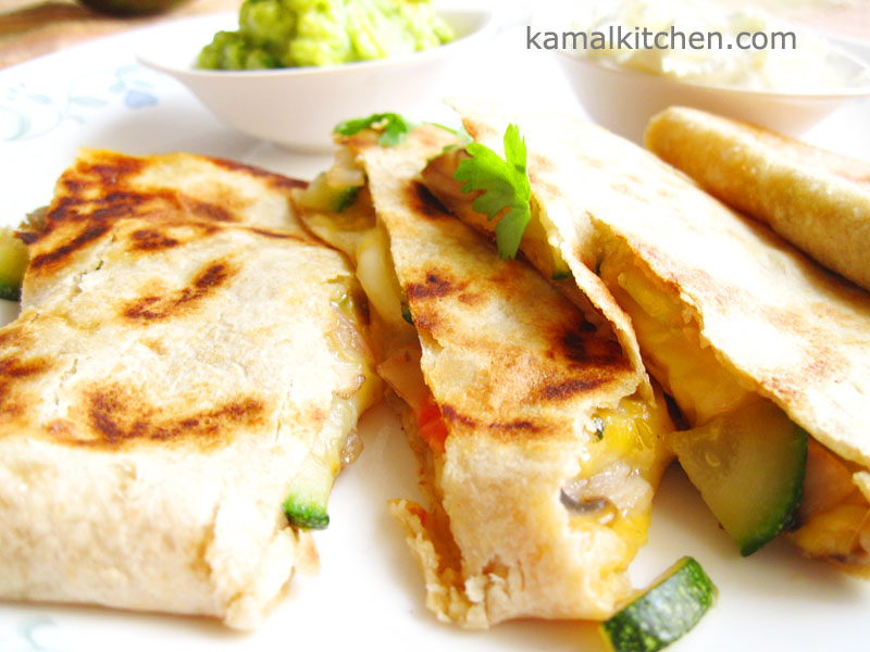 Zucchini and Mushroom Quesadillas – Simple Recipe