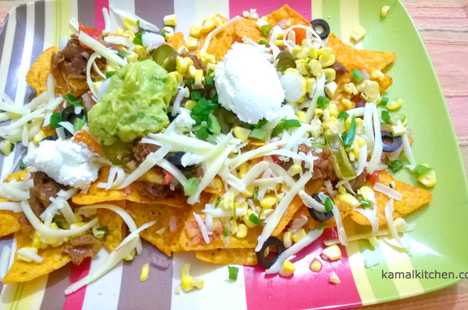 7 Layer Nachos – Best Vegetarian Nachos