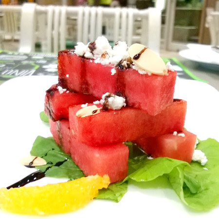 212 All Day - watermelon and goat cheese stack
