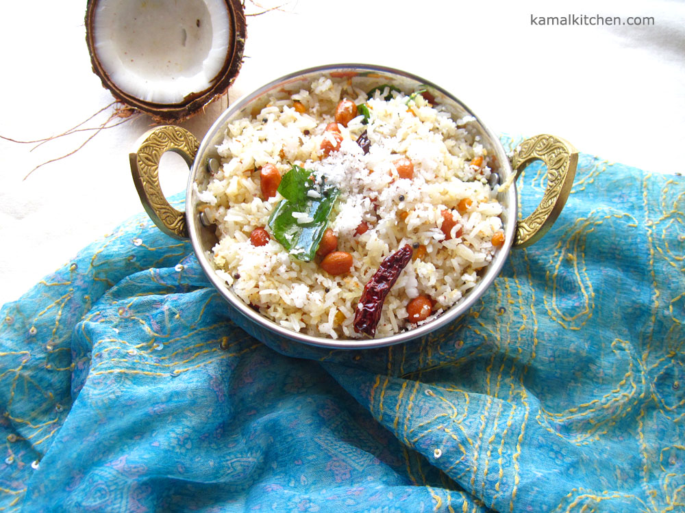 Coconut Rice – Vegan Indian Rice [Meatless Monday]
