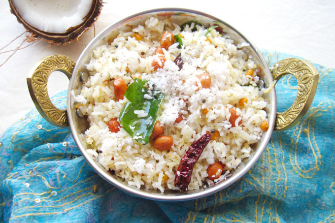 Coconut Rice – Vegan Indian Rice Recipe [Meatless Monday]