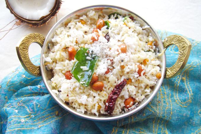 Coconut Rice – Vegan Indian Rice Recipe [Meatless Monday]