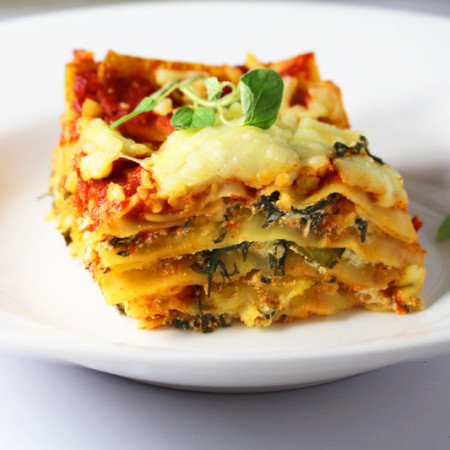 Vegetarian Lasagna - Spinach and Cheese Lasagna Step by Step recipe