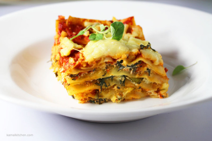 Vegetarian Lasagna – Spinach Lasagna Step by Step Recipe