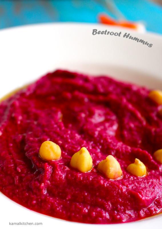 Beetroot Hummus - Vegan Recipe