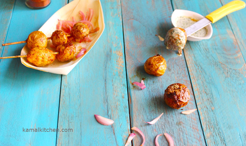 Tandoori Aloo Recipe - Tikka Spiced baby potato