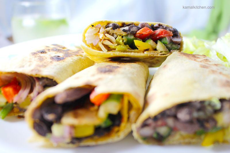 Black Bean Burritos - Vegan Recipe