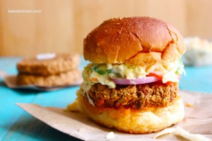 Kidney Bean and Coleslaw Burger