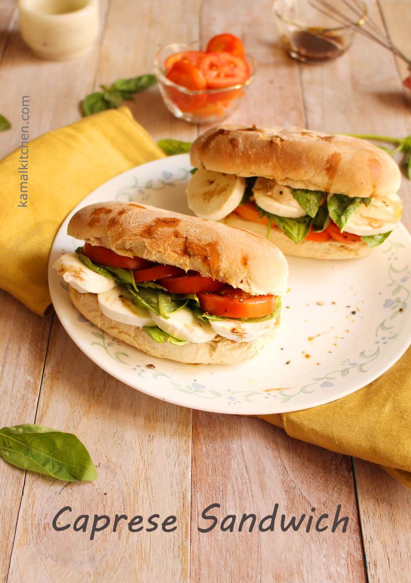 Caprese+Sandwich Caprese Sandwich - Tomato, Basil & Mozzarella ...